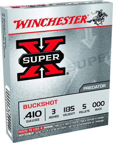 Super-X Shotgun Ammo 12 GA, 2-3/4 in, 00B, 9 Pellets, 1325 fps, 15 Rounds, Boxed