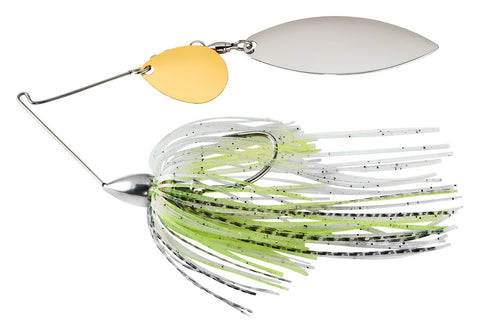 Nickel Frame Tandem Willow Spinnerbait White Silver