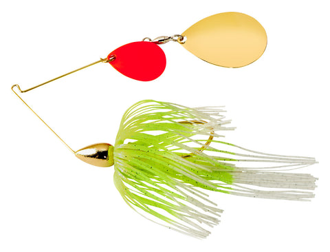 Gold Frame Tandem Colorado Spinnerbait Gold Shiner