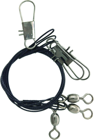 Wire Leader w/Crane Swivel & Snap Black