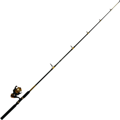 "Gorilla Super Tough Roddy Spin Combo, Solid Glass Tip, 6'6"" Medium, 410BK BB Reel"