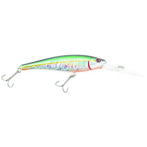 "Flicker Minnow Pro Slick Deep Dive Crankbait, 3"", 1/4 oz, Slick Alewife, Floating"