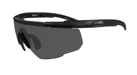 SABER ADVANCED Shooting Glasses- Smoke Grey Lens/Matte Black Frame