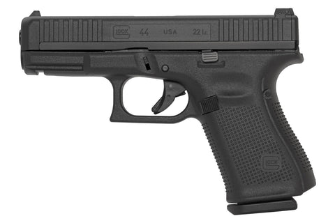 G44 Semi Auto Pistol 22 LR, 106mm Barrel, 10 Rnd, 2 Mags, Hybrid steel-polymer slide, Rear Adj Sights, Int Backstraps