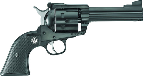 Blackhawk Convertible Revolver 357 MAG, 4.62 in, Checkered Hard Rubber Grp, 6 Rnd, Std Blued Frame, Std Trgr