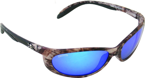 Smoker Sunglasses True Timber/Blue Mirror 60mm Lens