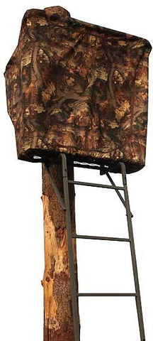 Tree Lodge Plus Treestand, 16.5' ladder 2 person stand, includes treestand Blind, Weather treated steel