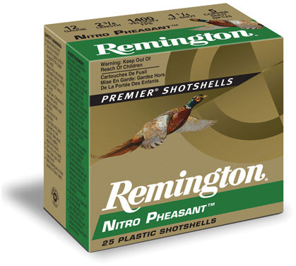 Nitro Pheasant Loads Shotshell 12 GA, 2-3/4 in, No. 4, 1-1/4oz, Max Dr, 1400 fps, 25 Rnd per Box