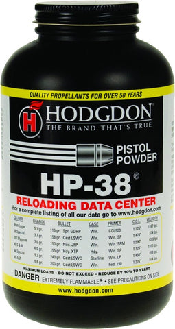 HP38 Smokeless Pistol Shotshell Powder 1Lb Can State Laws Apply