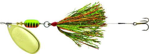 Trolling Rig In-Line Spinner #3 Blade Bucktail Copper Blade/Brown-Orange