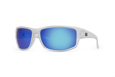 Rip Sunglasses Crystal Frame Blue Mirror Lens 62mm Lens