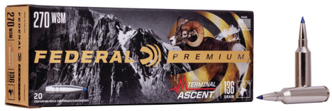 Terminal Ascent, 270 WIN, 136 Grain, 20 Round Box