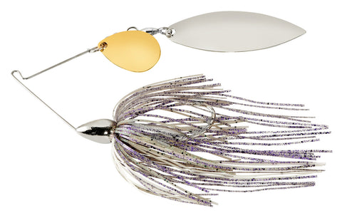 Screamin Eagle Nickle Frame Tandem Willow Spinnerbait Blue Pearl Shad