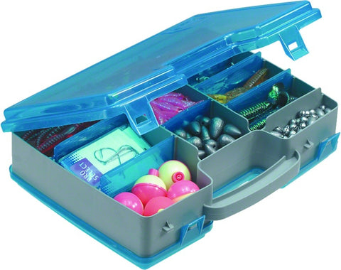 "Tackle Storage Tote 11x8x3"" Gray/Blu"