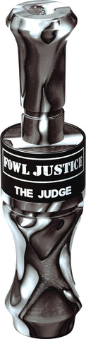 The Judge Duck Call Swirl Acrylic Black Ghost