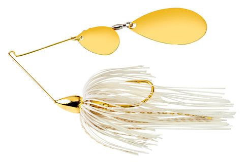 Gold Frame Tandem Indiana Spinnerbait White Gold