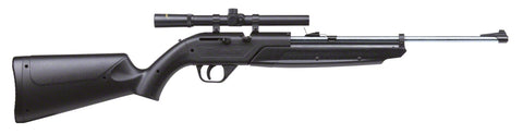 764 Pumpmaster (Black) Silver Barrel Bolt-Action, Variable Pump Air Rifle with 4x15 Scope, 625 FPS
