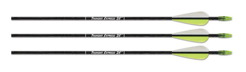 "Thunder Express Arrows 28"" Blk 3pk"
