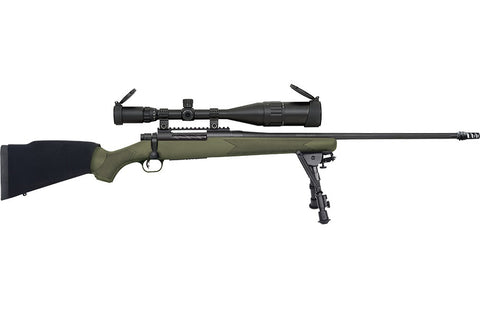"Patriot Bolt Action Rifle, 300 Win Mag, 24"" Threaded Bbl, ODG Stock, 6-24 Scope, Bipod, Muzzle Brake, 3+1 Rnd"