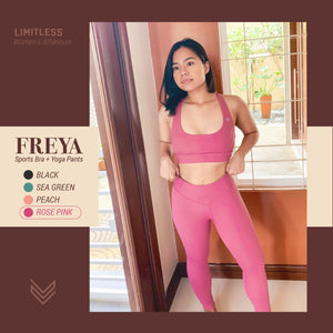 Freya Sports Bra / Yoga Pants [Rose Pink]