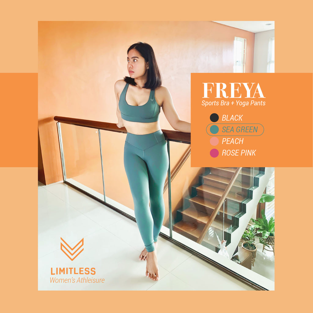 Freya Sports Bra / Yoga Pants [Sea Green]