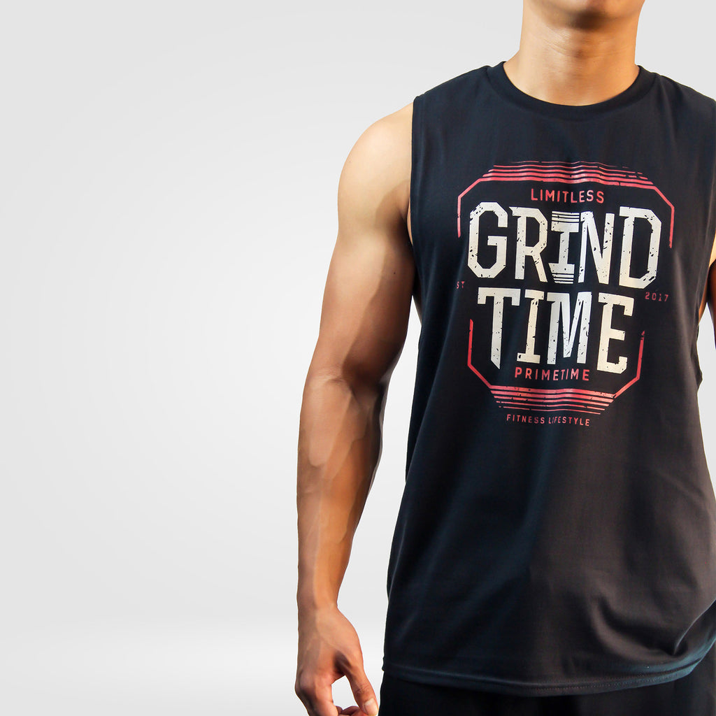 Grindtime Primetime Cut-Off Tank [Black]