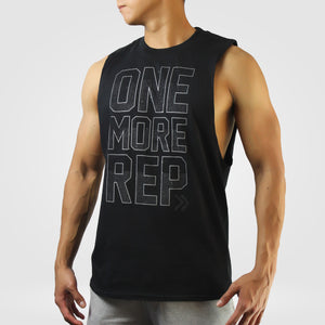 One More Rep Cut-Off Tank [Black]