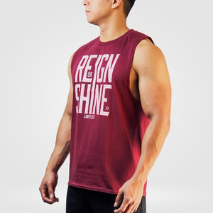 Reign Or Shine Cut-Off Tank [Maroon]