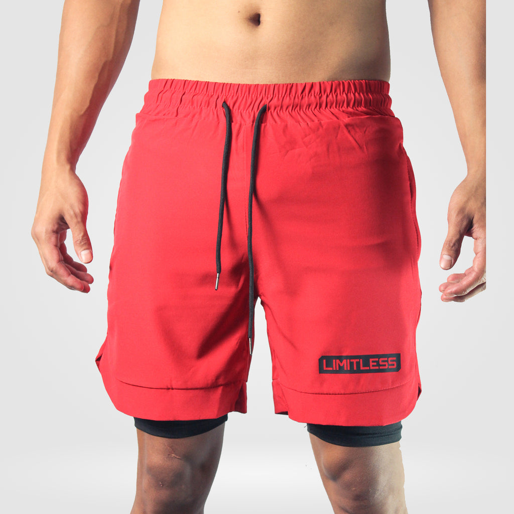 SVEN Aero Gym Shorts with Compression [Rage Red]