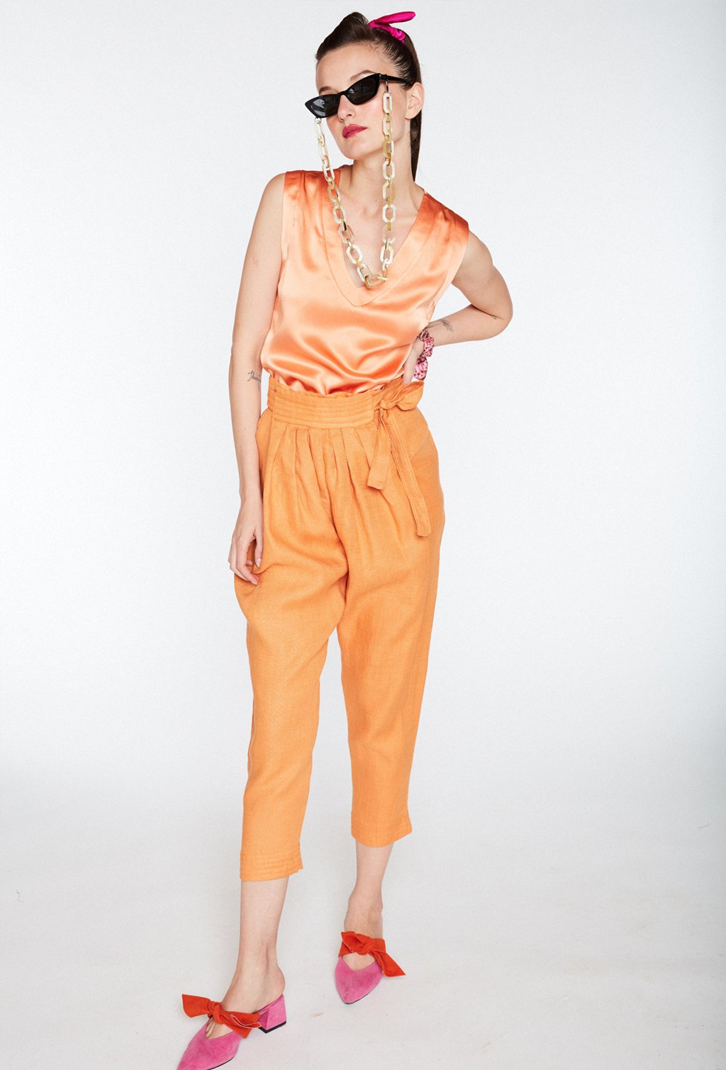 JUNGLE ORANGE PANTS