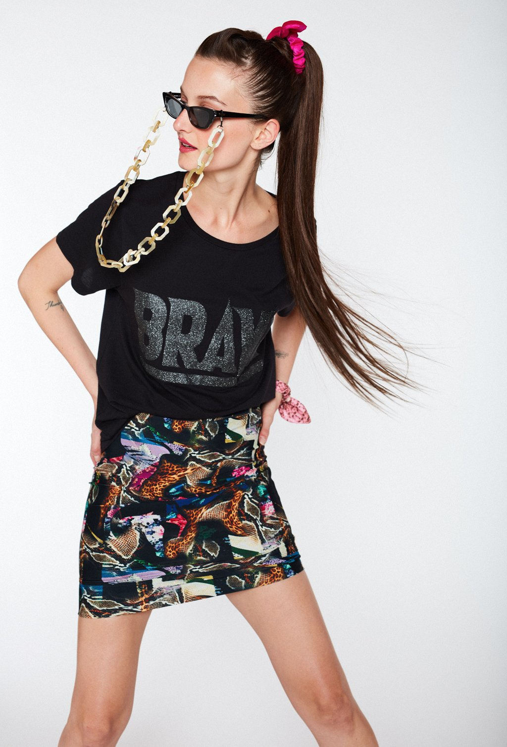 DANCER BLACK PITON SKIRT