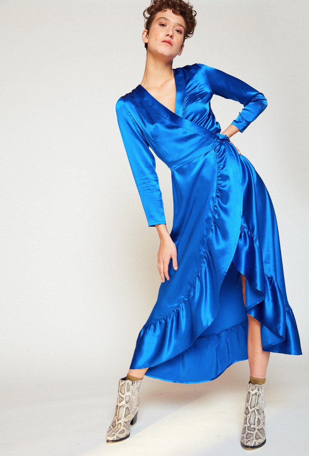CALA BLUE SILK DRESS