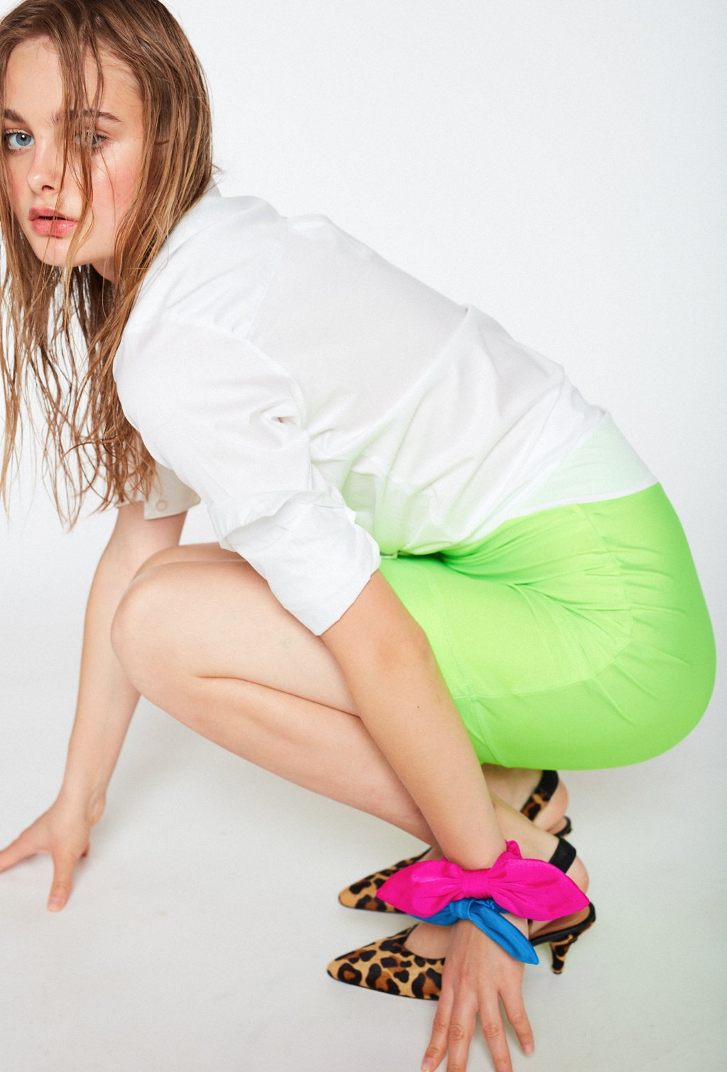 DANCER NEON GREEN SKIRT