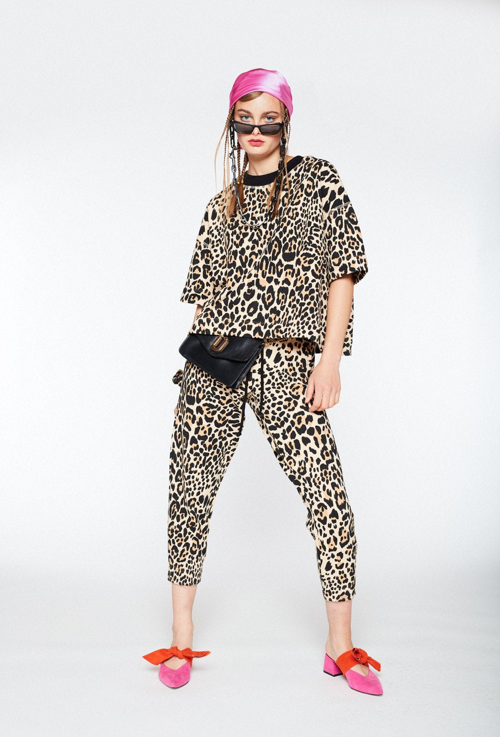 BAY ROAD LOOSE LEOPARD SWEATSHIRT