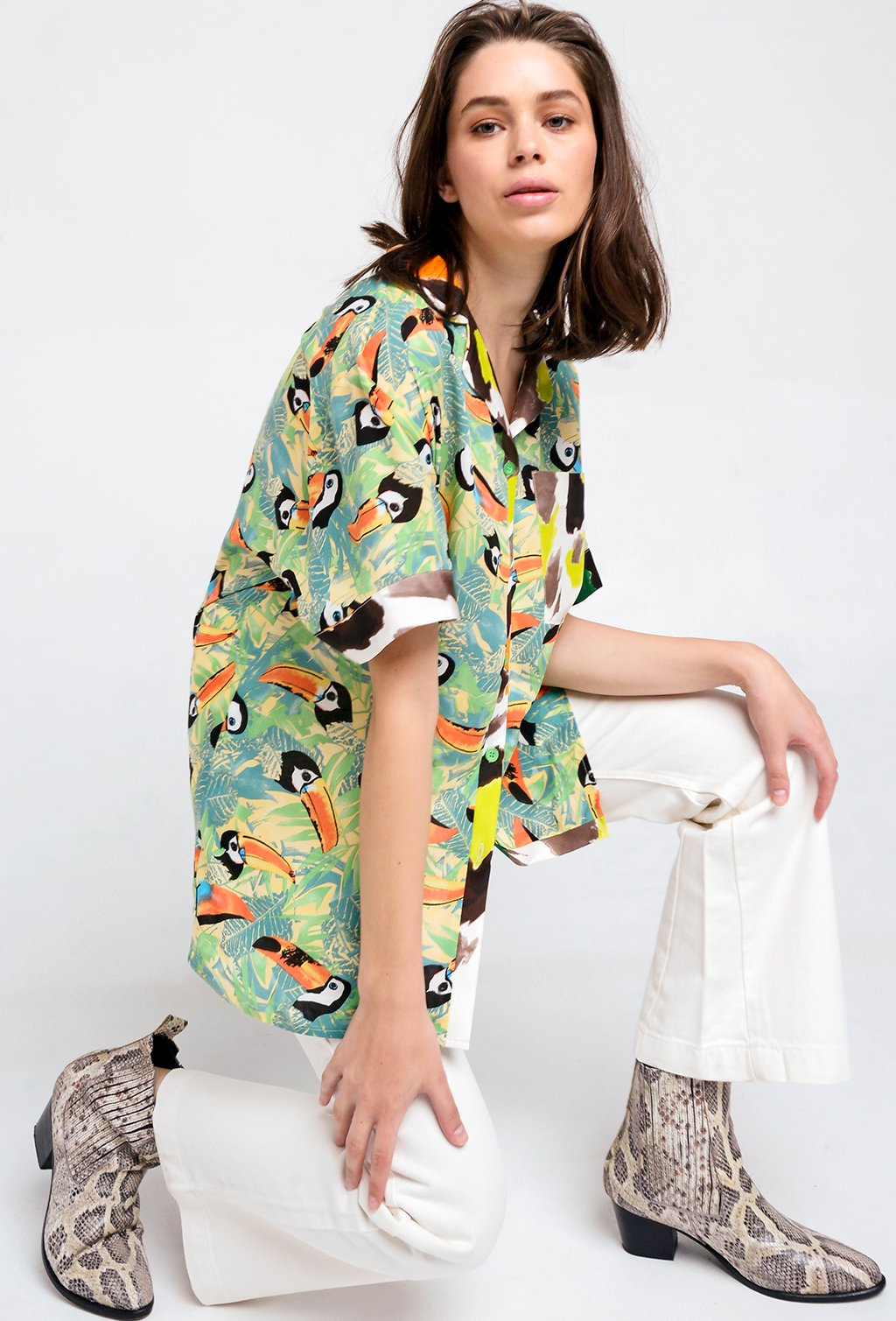 CUBAN TOUCAN BLOUSE
