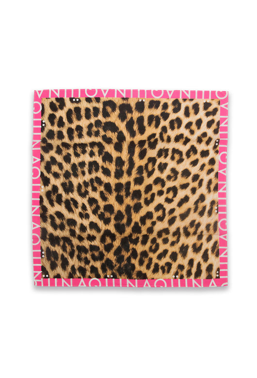 ANIMAL PRINT SCARF - FUCHSIA