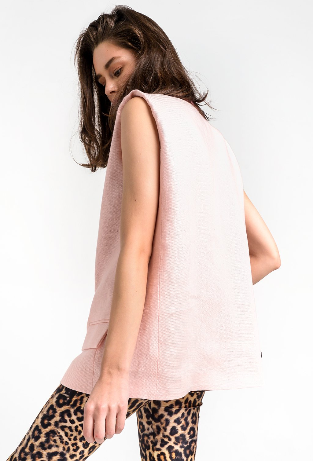 TRACY PINK LINEN JACKET