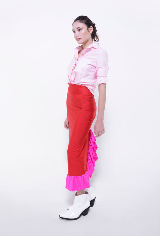 VERONICA MARIA SKIRT RED FUCHSIA