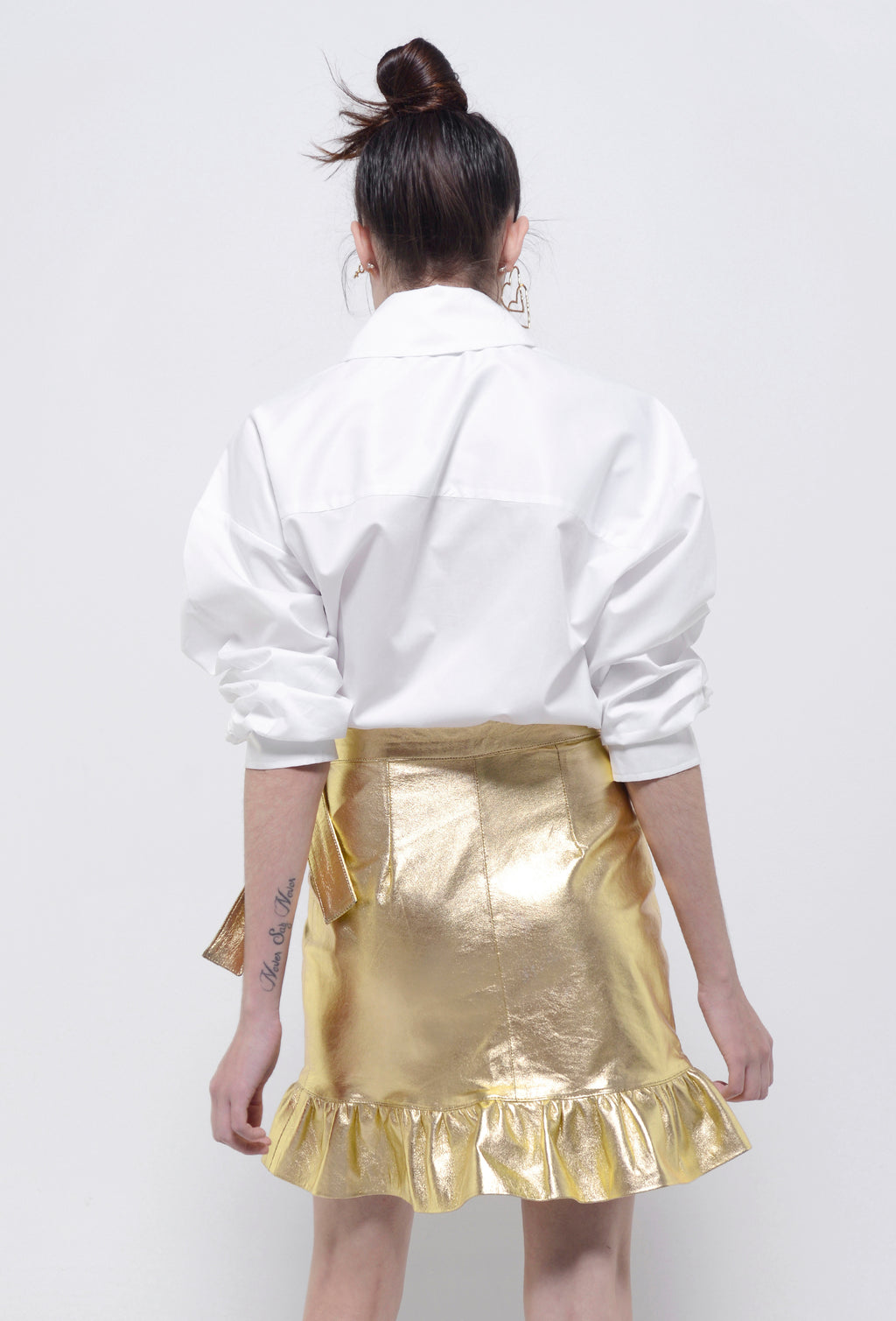 PATENT LEATHER SKIRT GOLDEN