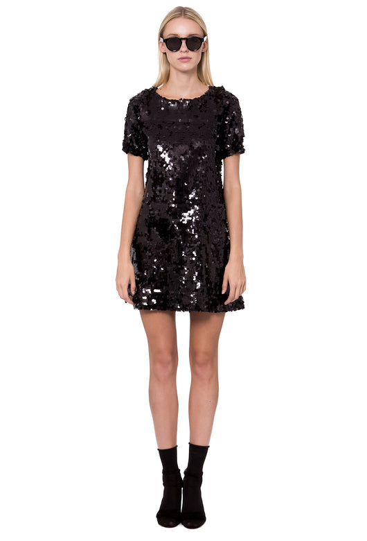 GLAM SEQUIN DRESS BLACK