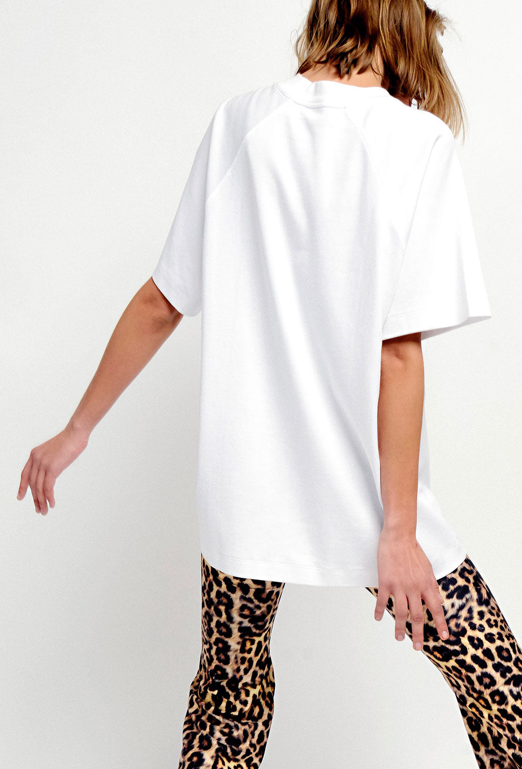 ART DECO LONGLINE T-SHIRT WHITE