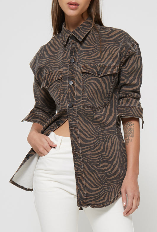 DENIM SHIRT ZEBRA