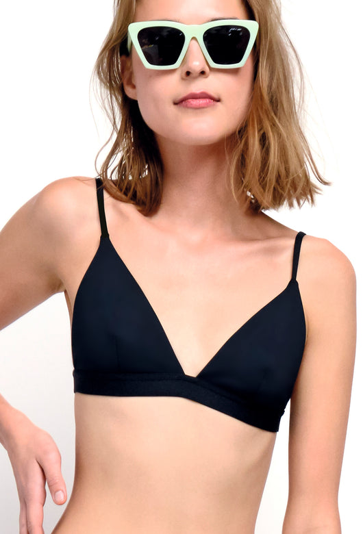BIKINI SWIMSUIT TOP BLACK