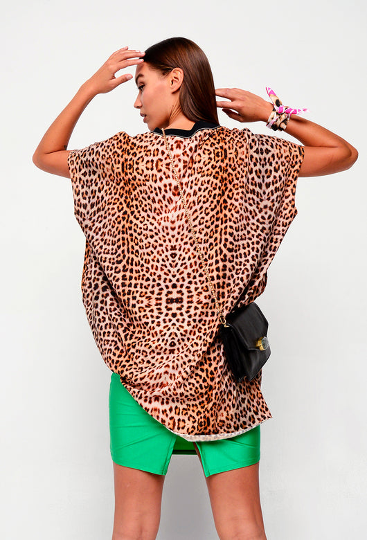SUMMER BAUHAUS DRESS LEOPARD