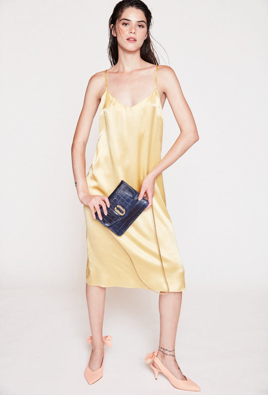 YASMIN GOLDEN SILK DRESS