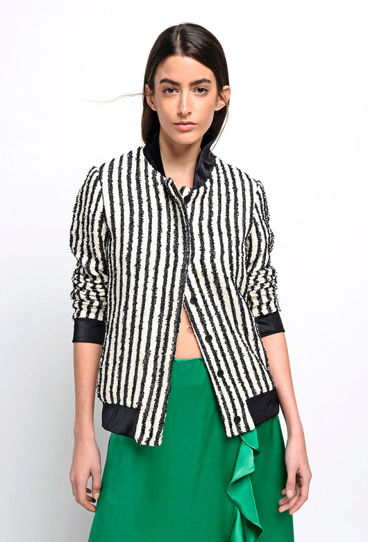 BOMBER JACKET STRIPES