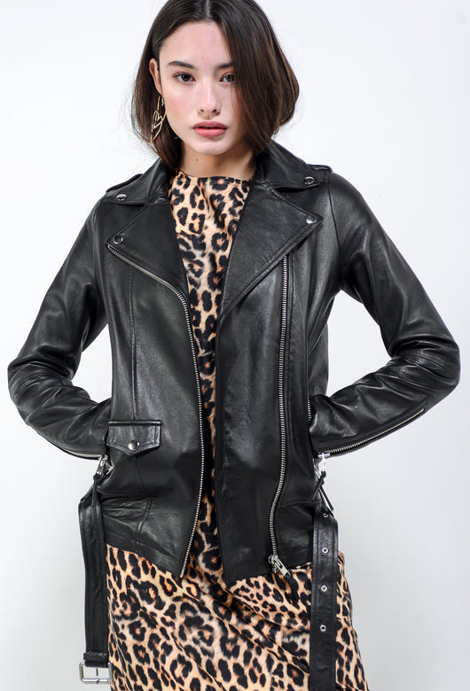 CAMI LEATHER JACKET BLACK