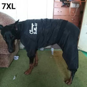 Dog wearing warm 7XL stylish waterproof jumpsuit for dogs