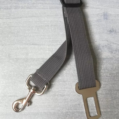 grey leash seat belt for dogs
