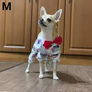 Chihuahua wearing cute print pajamas for dogs